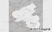 Gray 3D Map of Rheinland-Pfalz