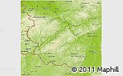 Physical 3D Map of Rheinland-Pfalz