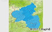 Political Shades 3D Map of Rheinland-Pfalz, physical outside