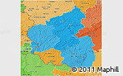 Political Shades 3D Map of Rheinland-Pfalz