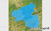 Political Shades 3D Map of Rheinland-Pfalz, satellite outside