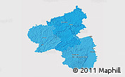 Political Shades 3D Map of Rheinland-Pfalz, single color outside