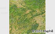 Satellite 3D Map of Rheinland-Pfalz