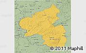 Savanna Style 3D Map of Rheinland-Pfalz