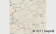 Shaded Relief 3D Map of Rheinland-Pfalz