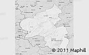 Silver Style 3D Map of Rheinland-Pfalz