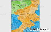 Political Shades 3D Map of Koblenz