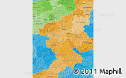 Political Shades Map of Koblenz
