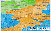 Political Shades Panoramic Map of Koblenz