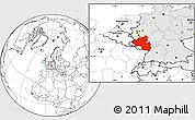 Blank Location Map of Rheinland-Pfalz, highlighted country