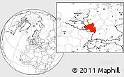 Blank Location Map of Rheinland-Pfalz