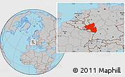 Gray Location Map of Rheinland-Pfalz