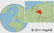 Savanna Style Location Map of Rheinland-Pfalz