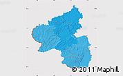 Political Shades Map of Rheinland-Pfalz, cropped outside