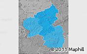 Political Shades Map of Rheinland-Pfalz, desaturated