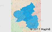 Political Shades Map of Rheinland-Pfalz, lighten