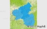 Political Shades Map of Rheinland-Pfalz, physical outside