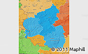 Political Shades Map of Rheinland-Pfalz