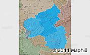 Political Shades Map of Rheinland-Pfalz, semi-desaturated