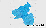 Political Shades Map of Rheinland-Pfalz, single color outside