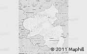 Silver Style Map of Rheinland-Pfalz