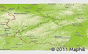 Physical Panoramic Map of Rheinland-Pfalz