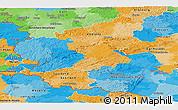 Political Panoramic Map of Rheinland-Pfalz