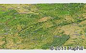 Satellite Panoramic Map of Rheinland-Pfalz