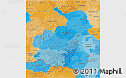 Political Shades 3D Map of Rheinhessen-Pfalz