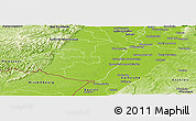Physical Panoramic Map of Germersheim