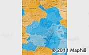 Political Shades Map of Rheinhessen-Pfalz