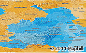 Political Shades Panoramic Map of Rheinhessen-Pfalz