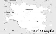Silver Style Simple Map of Pirmasens