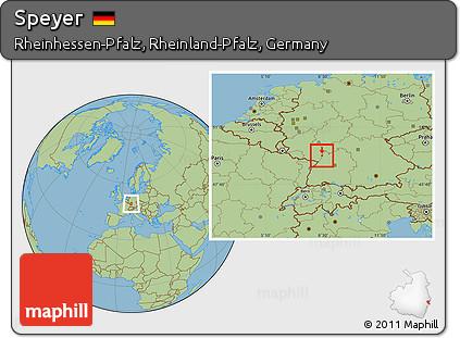 Free Savanna Style Location Map Of Speyer