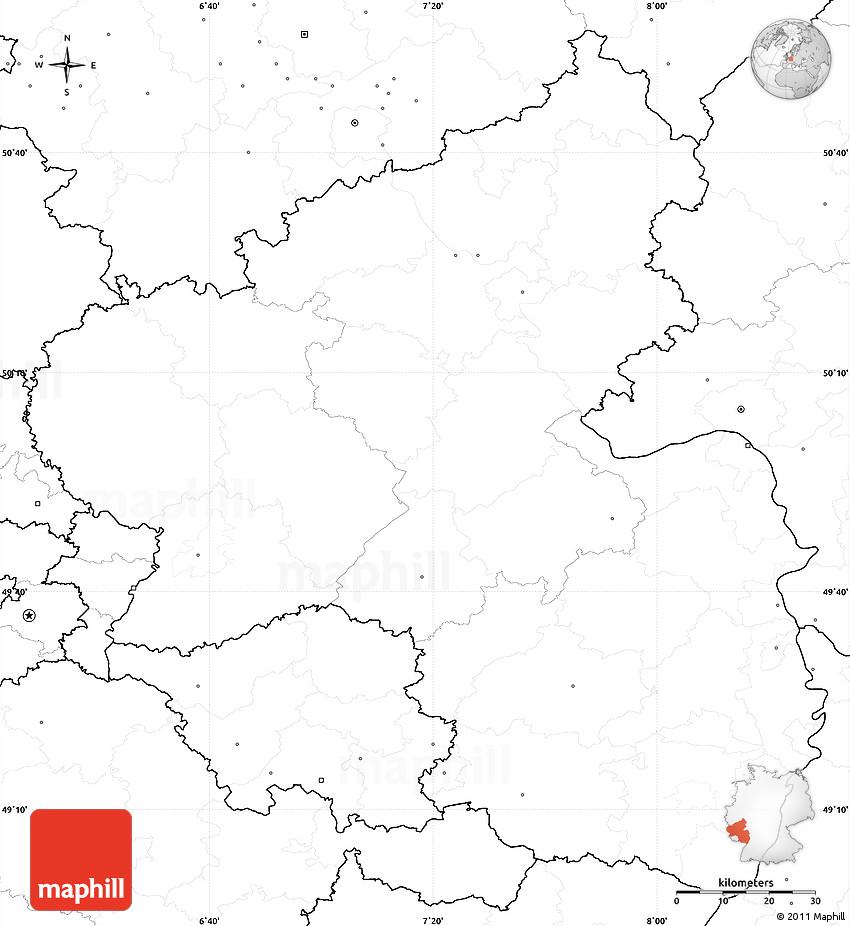 Blank Simple Map Of Rheinland Pfalz No Labels