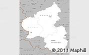 Gray Simple Map of Rheinland-Pfalz