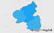 Political Shades Simple Map of Rheinland-Pfalz, cropped outside