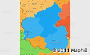 Political Shades Simple Map of Rheinland-Pfalz