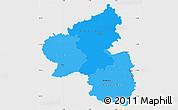 Political Shades Simple Map of Rheinland-Pfalz, single color outside