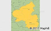 Savanna Style Simple Map of Rheinland-Pfalz