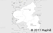 Silver Style Simple Map of Rheinland-Pfalz