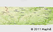 Physical Panoramic Map of Daun