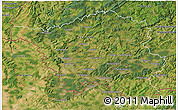 Satellite 3D Map of Saarland