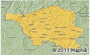 Savanna Style 3D Map of Saarland