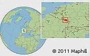 Savanna Style Location Map of Saarland