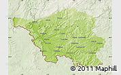Physical Map of Saarland, lighten