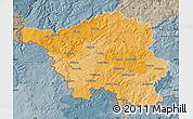 Political Map of Saarland, semi-desaturated