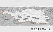 Gray Panoramic Map of Saarland