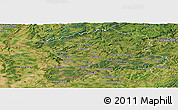 Satellite Panoramic Map of Saarland