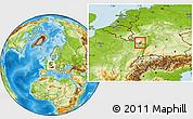 Physical Location Map of Saar-Pfalz-Kreis, highlighted parent region